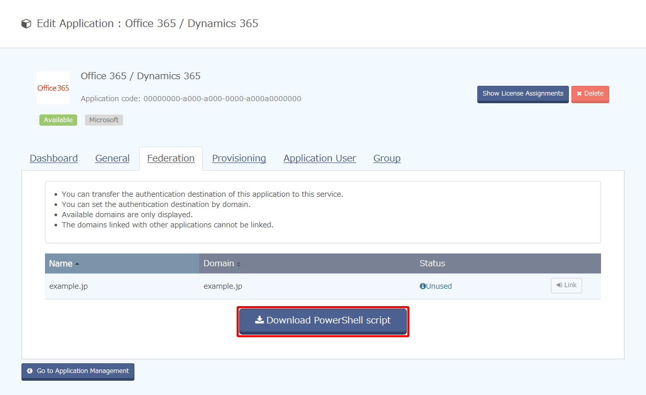Deleting Office 365/Dynamics 365 Applications